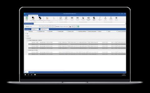 Screenshot de Salomon que permite realizar agrupaciones de informaicón para su estudio
