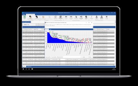 Screenshot de Salomon que muestra la información de correlaciones de variables
