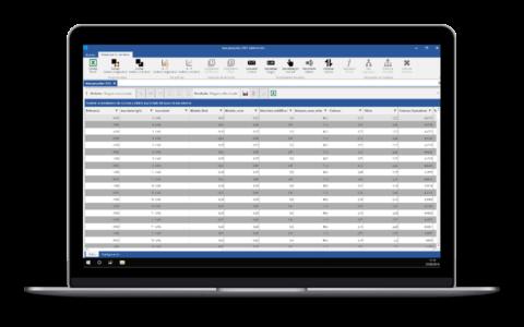 Screenshot de Salomón con la visualización de datos
