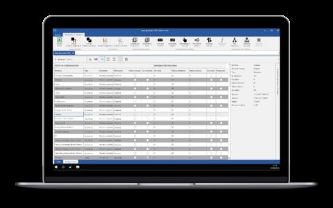 Screenshot de Salomon con la configuración y estadísticas de los datos
