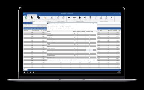 Screenshot de Salomon que muestra las opciones de discretización
