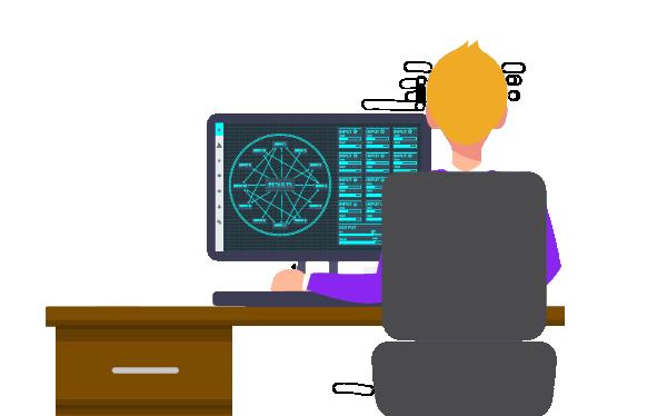 Experto en el proceso analizando datos en el PC con la herramienta Salomon