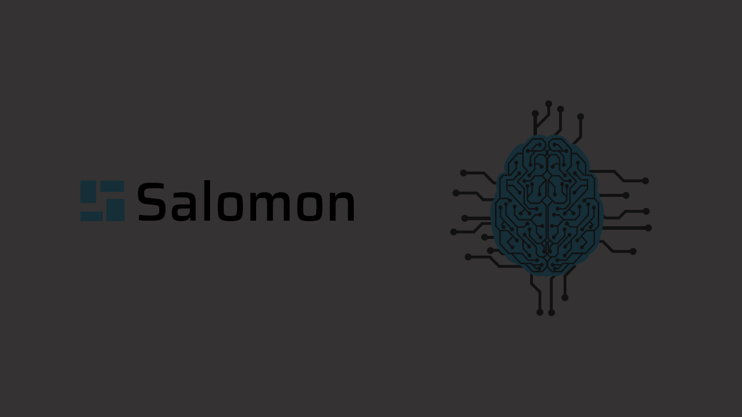 Imagen de vídeo de Salomon, con logotimo y el cerebro de calcular
